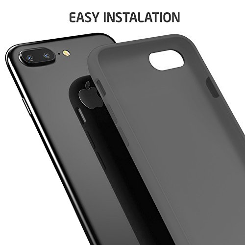 "First2savvv iPhone 7 4.7. iPhone 8 4.7 "" Stoßdämpfende Hülle Case Schutzhülle Silikon Case Durchsichtig iphone 7 -XJPJ-I7-4.7-C02 grau Silikon Hülle-5.5"