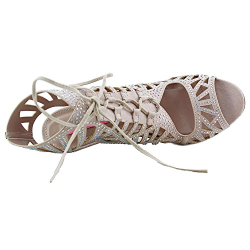 Betsey Johnson Lexxe Toile Sandales Champagne