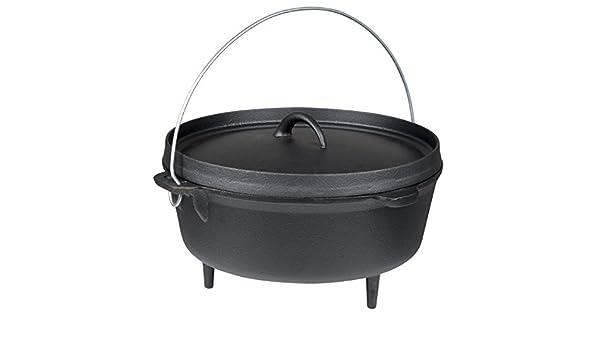 Dutch Oven Gusseisen Bräter Kessel Camping Outdoor Kochzubehör Grill