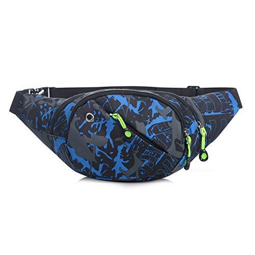 ktionale Hüfttasche, Herren & Damen Hüfttasche, Outdoor Sport Taille Pack, Kurze Distanz Reise Hüfttasche, geeignet für Klettern, Laufen, Radfahren, Party, Fitness etc, City Blue ()