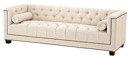 Casa Padrino Luxus Sofa Kubus Panama Creme - 3 Sitzer - Hotel Einrichtung