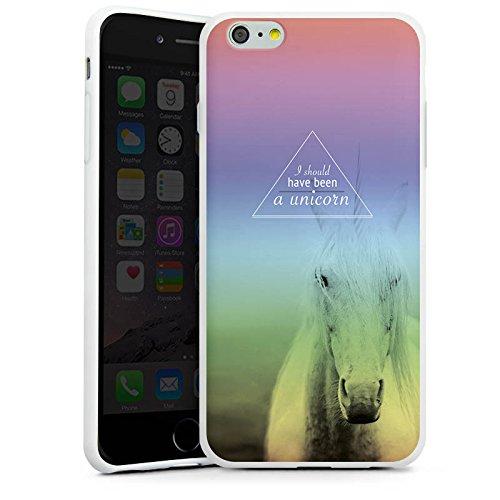 Apple iPhone X Silikon Hülle Case Schutzhülle Einhorn Sprüche Unicorn Silikon Case weiß