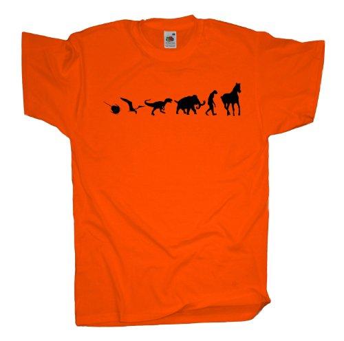 Ma2ca - 500 Mio Years Pferde T-Shirt Orange