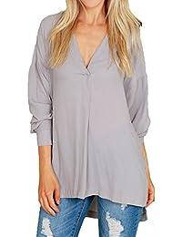 Amazon Mujer Y Camisas Camisa es Vaquera Blusas Hibote zHrqza