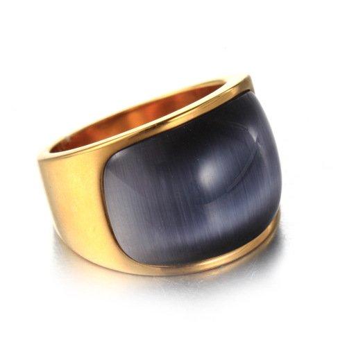 LOPEZ KENT Männer und Frauen Schmale Version Titanium Stahl Katzenaugen Ringe Grau Größe 59(18.8) (Hochzeit Ring Kissen Grau)