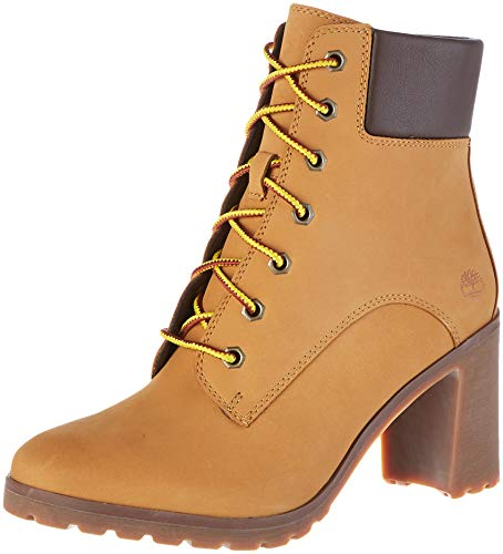 Timberland Allington 6 inch Lace-Up, Stivali Donna, Giallo (Wheat 231), 39.5 EU
