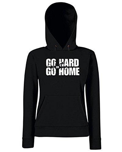 T-Shirtshock - Sweats a capuche Femme OLDENG00511 go hard or go home Noir