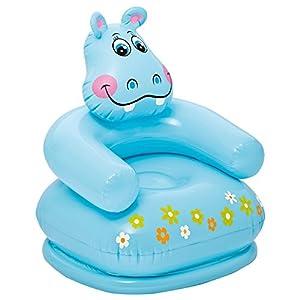 Intex 68556 - Sillón hinchable forma de Hipopótamo 65 x 64 x 74 cm