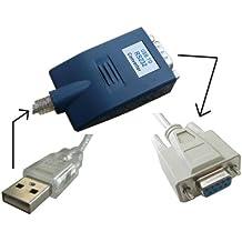 Kalea Informatique Konverter USB auf Serie RS232–mit Kordelzug null Modem/gekreuzt–Terminal Buchse DB9