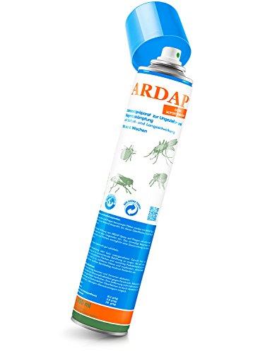falle silberfische ARDAP Ungezieferspray – Bis zu 6 Wochen wirksames, langanhaltendes Spray zur Bekämpfung bei akutem Ungezieferbefall für Zuhause oder in Umgebung von Tieren – 1 x 750 ml