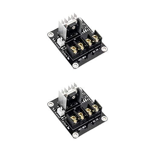 Jolicobo Mosfet Heizbett Leistungsmodul 2 Pack Tube Hot Bed Power Module Erweiterung für 3D Drucker Heizung Bett Zubehör -