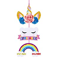 Party Propz Unicorn Theme Door Board for Unicorn Birthday Decoration