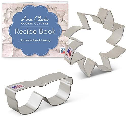 Sunshine Ausstechformen-Set mit Rezeptheft - 2-teilig - Sonne & Sonnenbrille - Ann Clark - USA aus Stahl