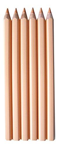 Buntstifte Set haut 6 Stifte ca. 17cm bruchfest ✓ Wasserfeste, dicke, stabile Holzbuntstifte ✓...