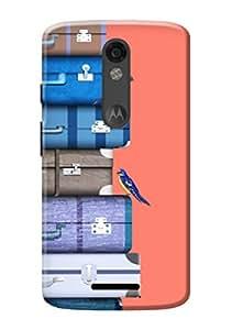 Moto X Force Back Case KanvasCases Premium Designer 3D Printed Lightweight Hard Cover