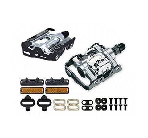 Pédales mixtes SPF automatique compatible Shimano 3021 cales pour vélo