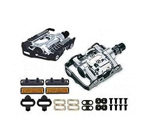 ONOGAL Pedali Lega SPD Automatico Compatibile con Shimano + spessori per Bicicletta 3021