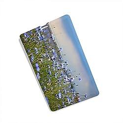 Pen Drive, 16GB Credit Card Shape USB Flash Drive, Natural Scenery Printed Pen Drive Memory Stick Pendrive | PD-OF-92-100yellow