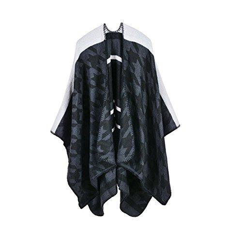 Nouvelle marque femme poncho hiver couette vintage Xagoo femme de la laine châle Cape foulard cachemire Couleur 4
