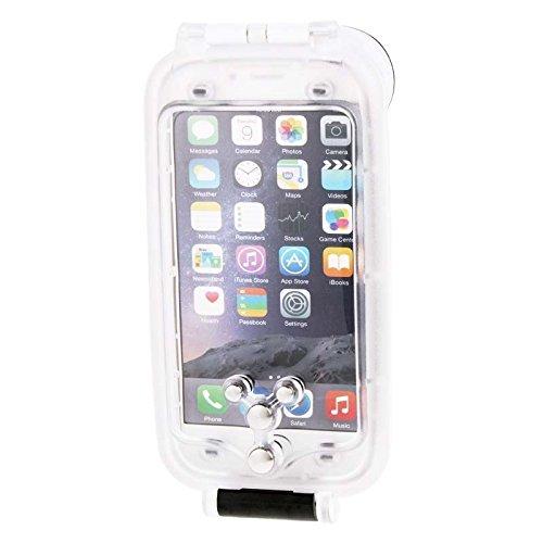 Wkae Case & Cover ipx8 dustproof étanches avec cordon de protection antichocs pour iphone 6 plus &6s et ( Color : White ) weiß