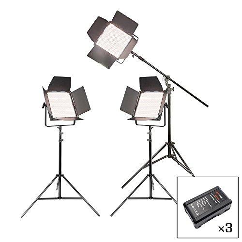 PIXAPRO VNIX 1500B Zweifarbig Tageslicht Wolfram Drei Köpfe Set Video Interview Lichter LED Panel mit V-Lock Batterie Fernbedienung DMX Leistung 2 Year UK Garantie UK Lager VAT Registriert (Wolfram Kopf)