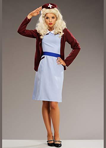 Magic Box Int. Womens 1960er Jahre Vintage Krankenschwester Kostüm XS (UK6-8)