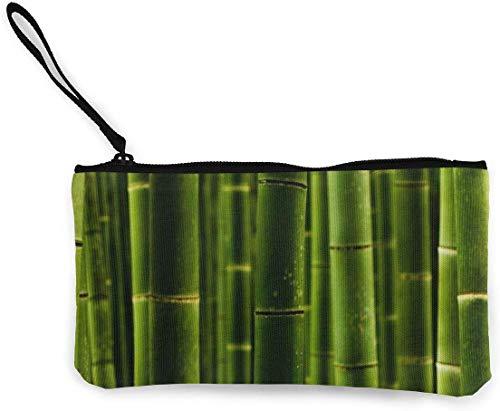 naotaori Bambus Fechten Leinwand Geldbörse Unisex Tasche Mini Brieftasche Schlüsselhalter Karten Organizer Mit Reißverschluss Für Frauen Und Männer Casual Daypacks