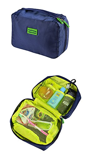 Bolsas de viaje, Cubos de embalaje para maletas, Bolsas de viaje para almacenamiento | Set de 7 piezas (Blue)