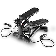 Klarfit Powersteps Stepper (antidérapant pour exercices aérobic avec extenseurs, poids supporté jusqu'à 100kg, ordinateur de bord)