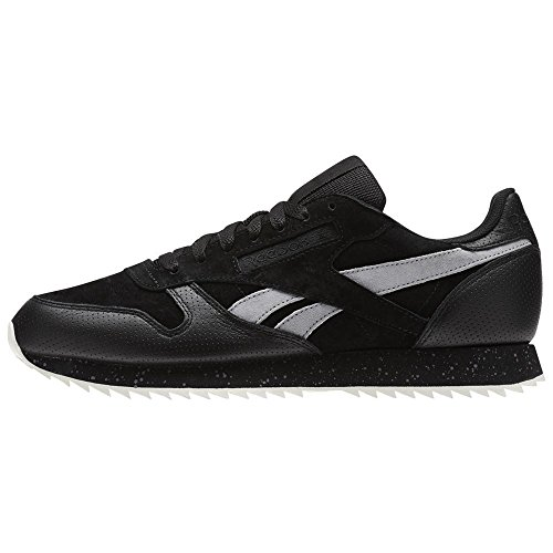 Reebok CL Lthr Ripple SM, Chaussures de Running Homme Noir (Blackcool Shadowchalk)