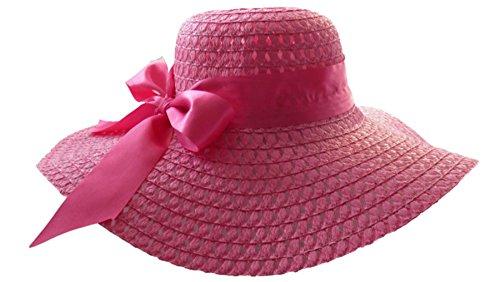 Basthut diamètre :  46 cm strandhut chapeau pour femme taille unique dans 10 couleurs - Rose