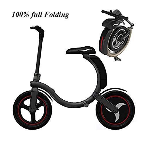 CHENGL Elektroroller E-Bikes für Erwachsene Faltgeschwindigkeit bis zu 38 km/h, abnehmbare Lithium Ladies Black,Black -