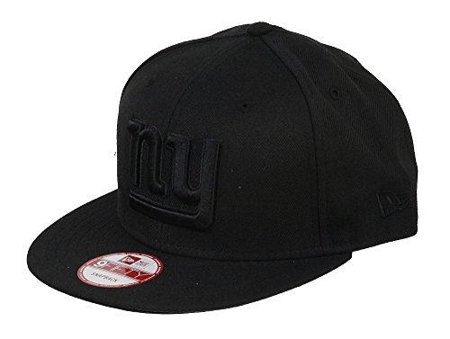 York New Giants-football-hut (NEW YORK GIANTS - NEW ERA 9FIFTY SNAPBACK - NFL - BLACK ON BLACK)