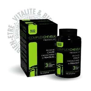 Complement alimentaire Complex cheveux 180 comprimes - SID NUTRITION