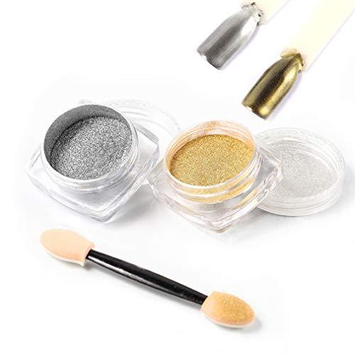 ROSALIND 2PCS/Lot Esmalte uñas plata oro purpurina