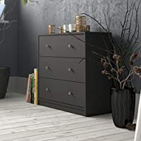 Tvilum Particle Board May Chest, 70332, Grey, H 68.3 x W 30.1 x D 72.4 cm, DIY