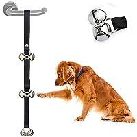 Nicedeal - Campanas de Entrenamiento para Inodoro, Ajustables, para Perros y Mascotas, para Inodoro, Gran Volumen, para Entrenamiento en casa, para Perros pequeños, medianos y Grandes, Color Negro