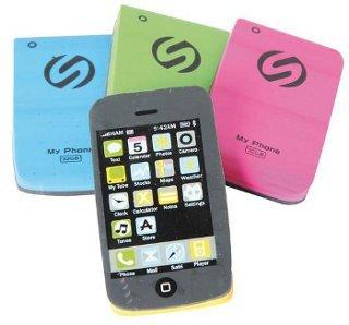 Radiergummi Collection Handy 4-fach sortiert einzeln verpackt 4x1,2x6,6cm - Liefermenge 24 Stück