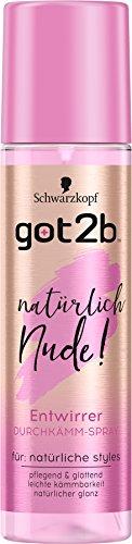 Schwarzkopf Got2b Durchkämm-Spray, Natürlich Nude, 2er Pack (2 x 200 ml)