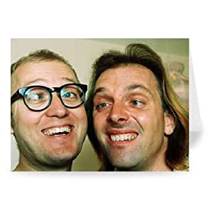 Rik Mayall and Adrian Edmondson - Bottom - Greeting Card (Pack of 2) - 7x5 inch - Art247 - Standard Size - Pack Of 2