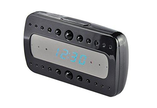 EC306 HOKATec 1080p Kamera FULL HD Glas - Spiegel Spionage Digitaluhr mit Bewegungssensor (motion detection) und Nachtsichtfunktion, 1920 x 1080 pixel Video mit 5 Mega pixel Kamera , 12 Stunden Akku