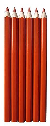 Buntstifte Set zinnoberrot, 6 Stifte ca. 17cm bruchfest ✓Wasserfeste, dicke,stabile Holzbuntstifte ✓Mine: ca. Ø 5,7mm ✓Kinderstifte ab 3 Jahren ✓Mandala Stifte für Erwachsene zum Ausmalen auf Papier ✓Farbstifte, satte Farben für Schulen & Kindergarten tolle Qualität | trendmarkt24 - 1260611