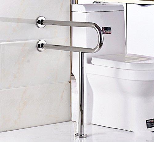 WEBO HOME- Baño Barandilla de seguridad Barrera libre de acero inoxidable 304 Pasamano antideslizante Baño minusválido De edad avanzada Discapacitados -Pasamanos de baño