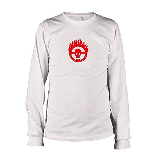 TEXLAB - Mad Fury - Langarm T-Shirt, Herren, Größe XXL, weiß