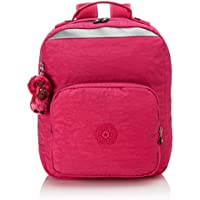 Kipling Medium Backpack with Padded Shoulder Straps (Pink Berry C)