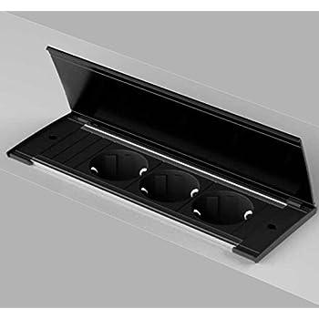 arbeitsplatten einbau k chen 2 fach schuko steckdose kapsa 2 usb port deckel weiss 553914. Black Bedroom Furniture Sets. Home Design Ideas