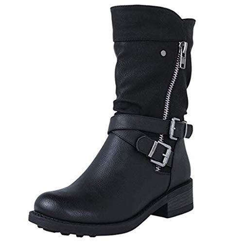 Luckycat Botas de Nieve para Mujer Zapatos Mujer Deportivos...