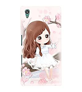 Printvisa Cute Girl Sitting On A Swing Back Case Cover for Sony Xperia Z5::Sony Xperia Z5 Dual