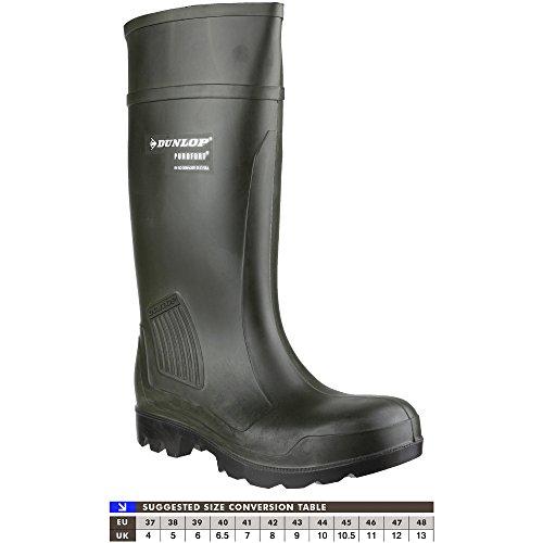 Stivali da lavoro Dunlop Purofort professionale completa sicurezza verde scuro S5 C462933 (Verde scuro)