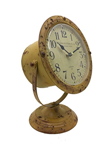 Crispe home & garden Tischuhr Scheinwerfer, Standuhr, Kaminuhr, Uhr aus Metall 18,5 x 18 x 28 cm